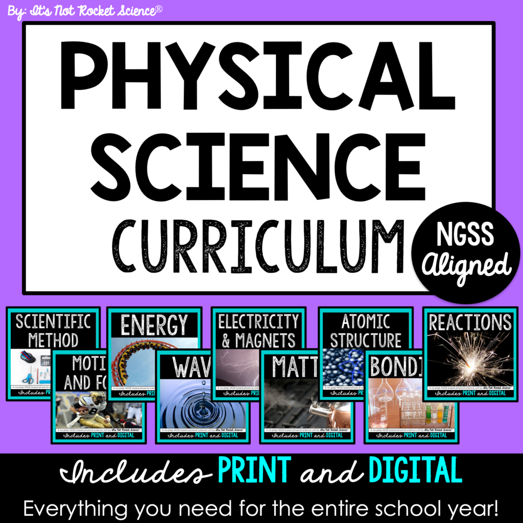 physical science scope and sequence
