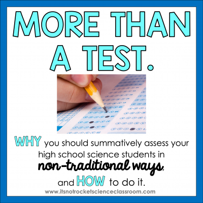 Nontraditional Summative Assessments in High School Classes