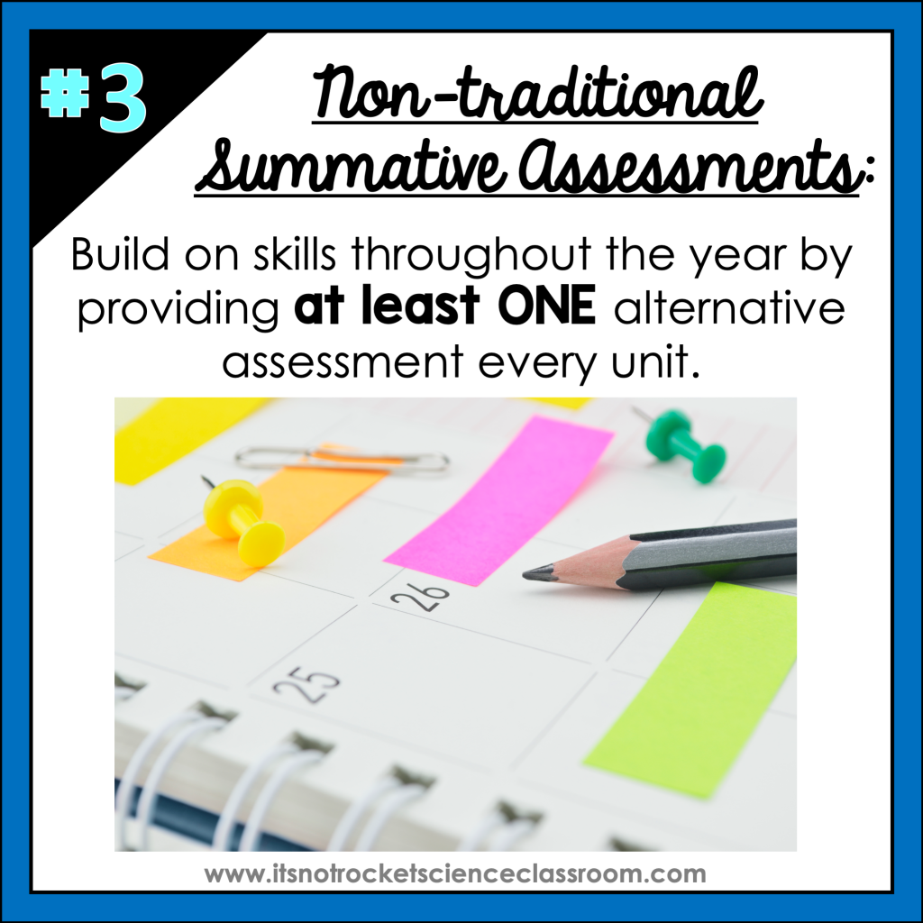 nontraditional summative assessments