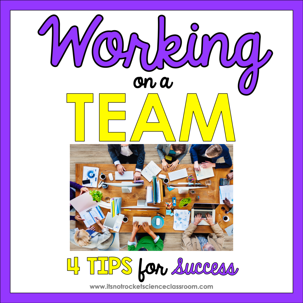Working on a team at a high school, 4 tips for success working together