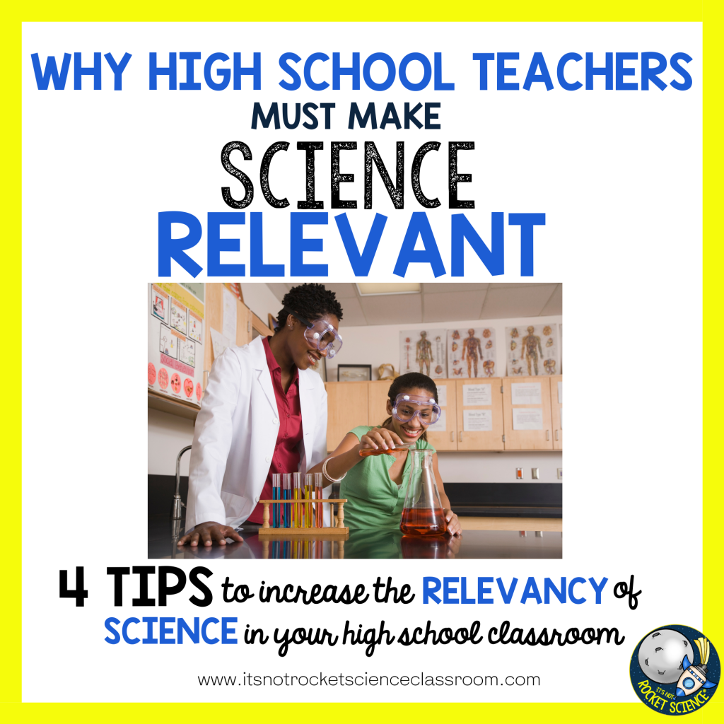 make science relevant - tips to increase the relevancy of science