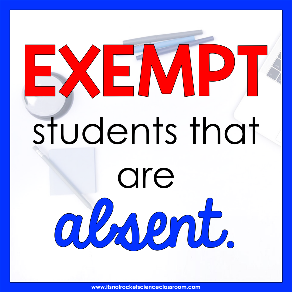 Exempt students that are absent.
