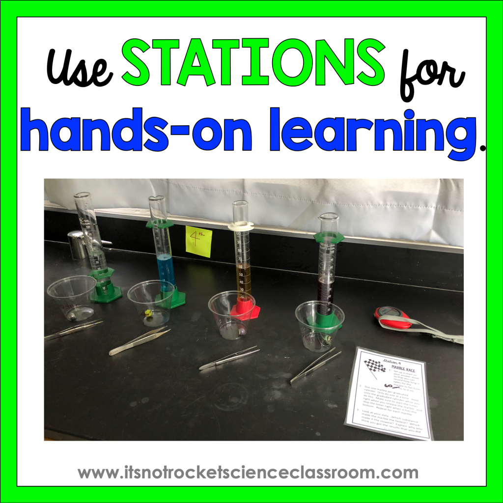 Use stations for experiential hands-on learning when you have minimal resources.