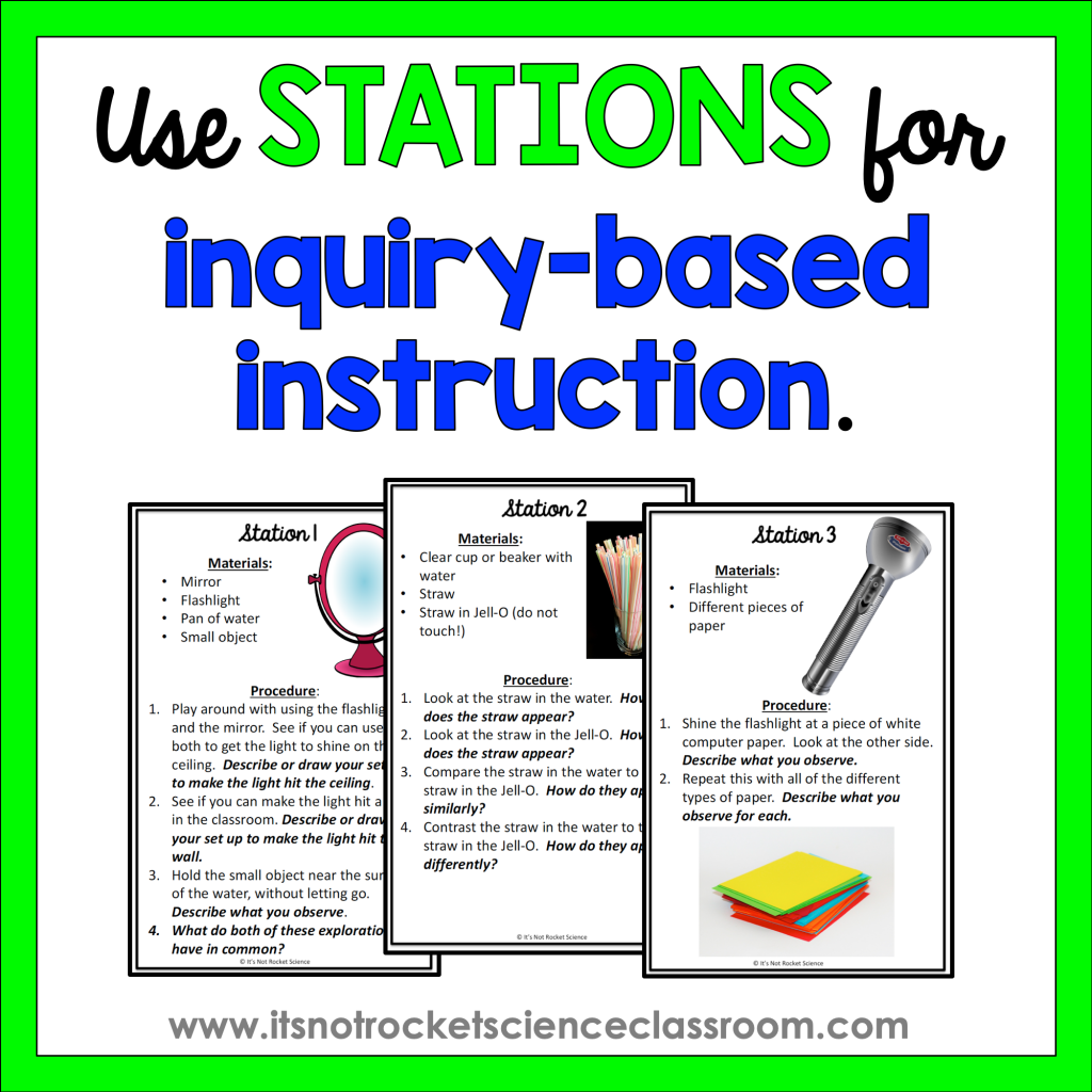 Use stations for inquiry-based instruction.