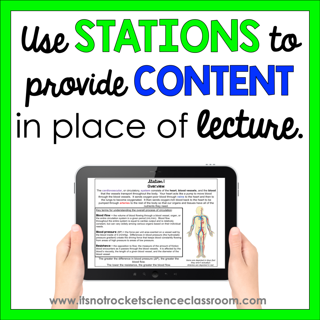 Use stations to provide content in place of lecture.