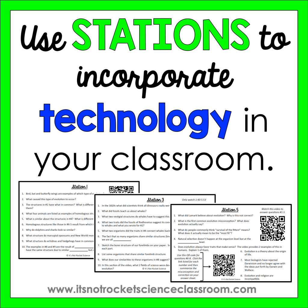 Use stations to incorporate technology in your classroom.