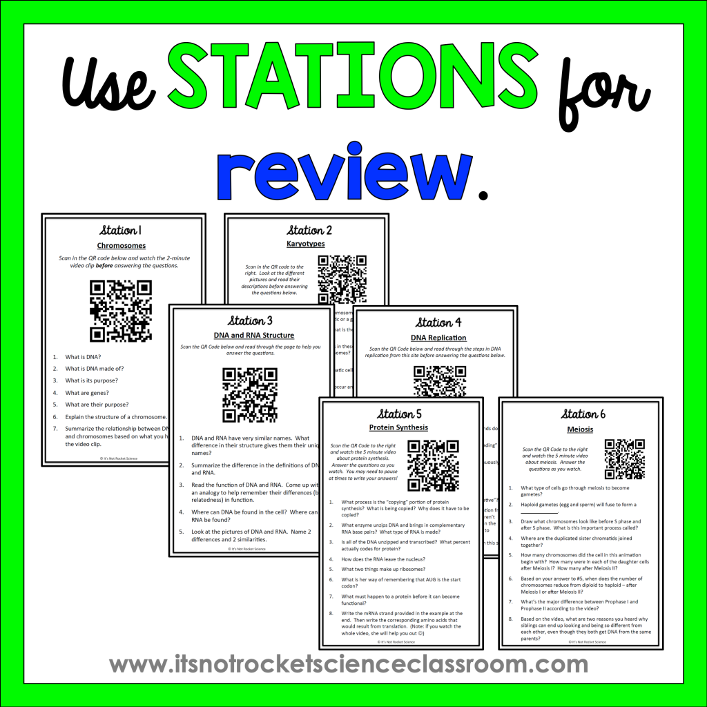 Use stations for review
