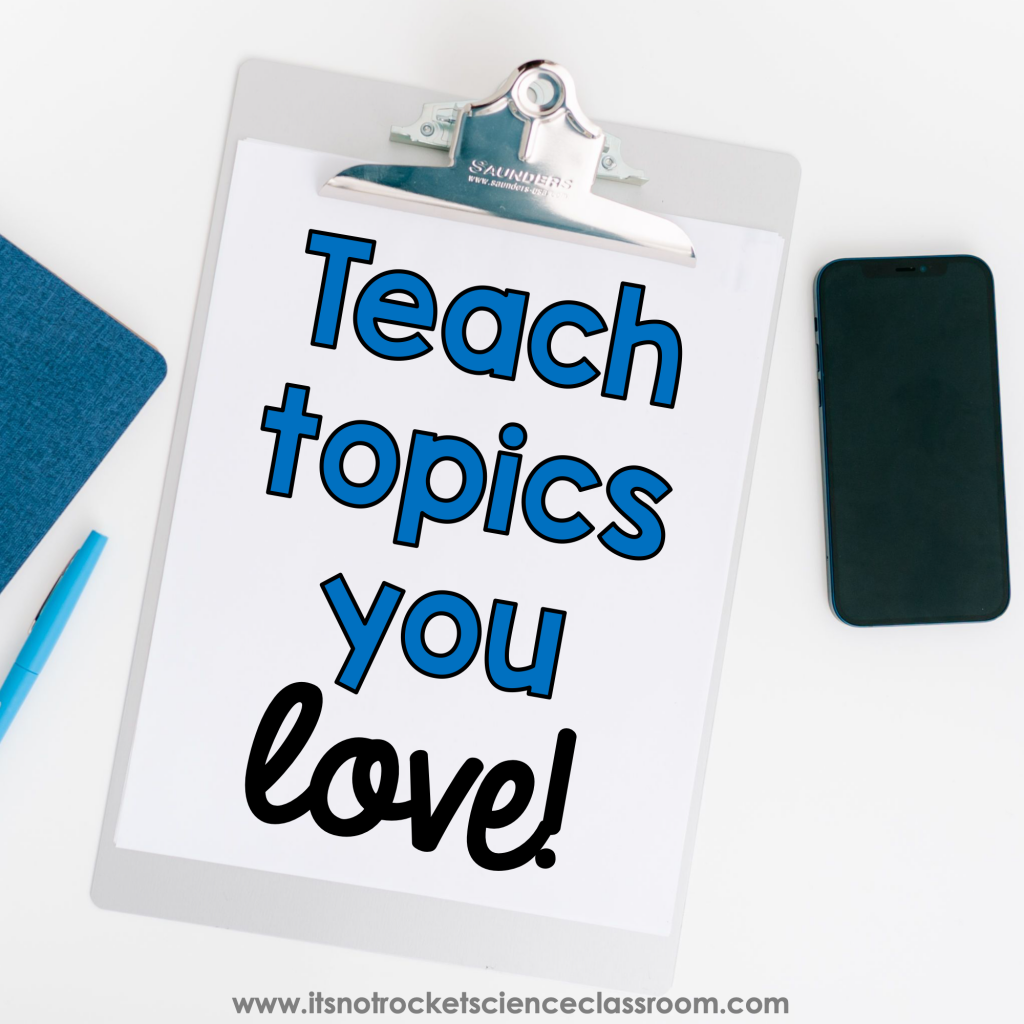 How to survive second semester tip 1 - teach topics you LOVE!