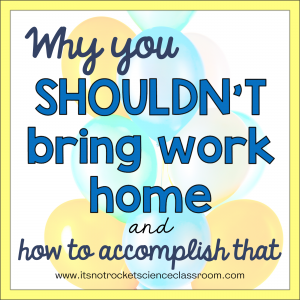 Why you shouldn't bring work home and how to accomplish that