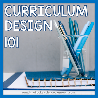 Curriculum design 101