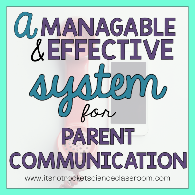 A manageable and effective system for parent communication