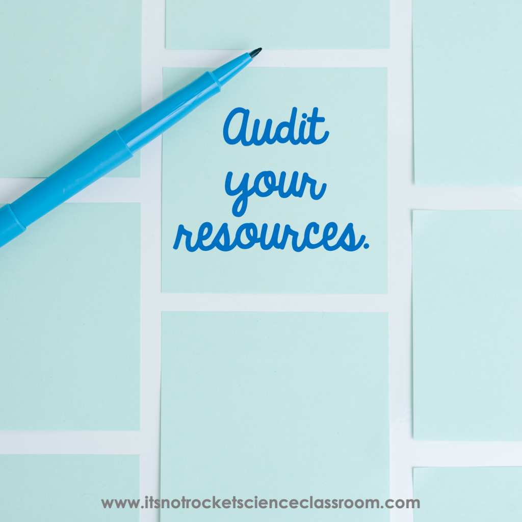 Audit your resources
