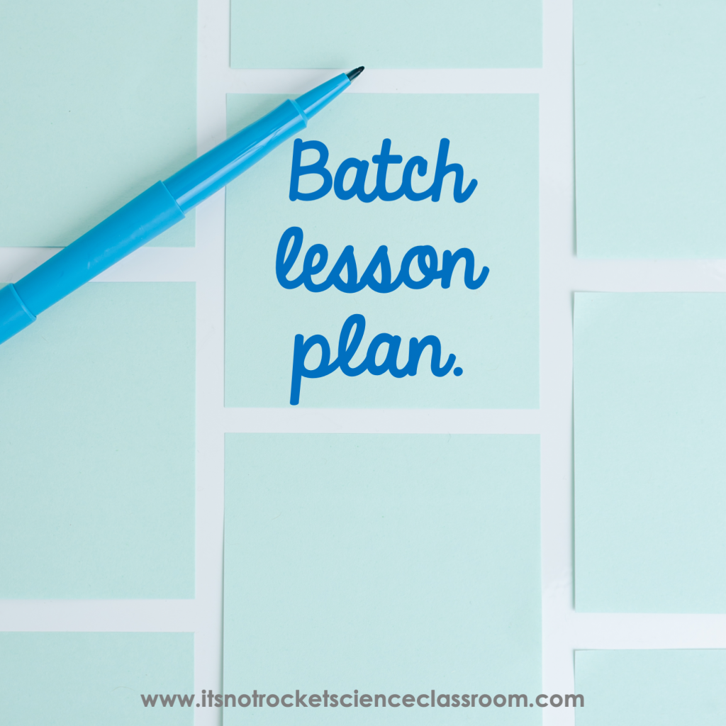 Batch lesson plan