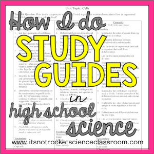 study guides in high school