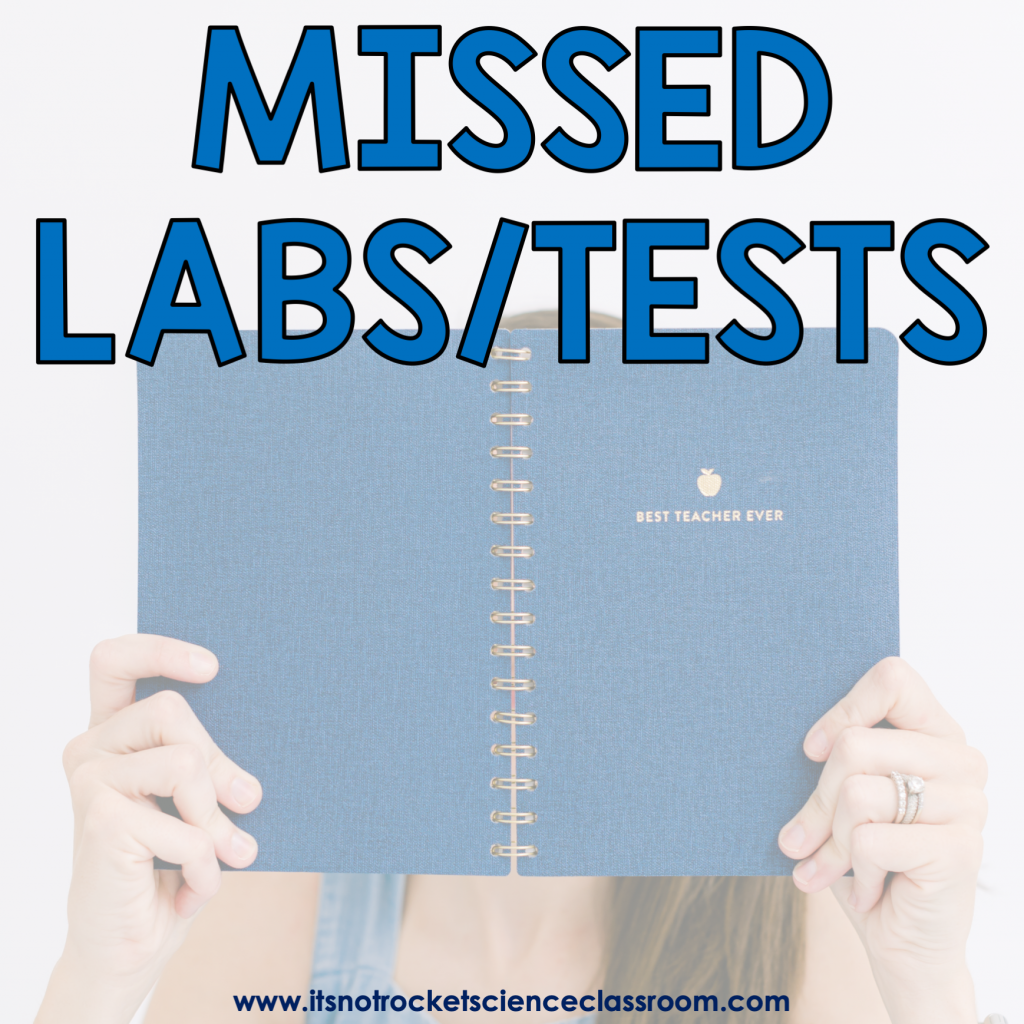 Procedures to teach: missed labs and tests