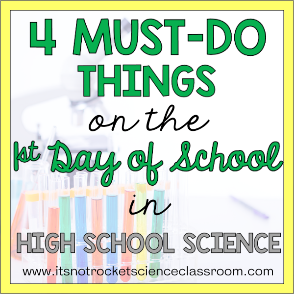 1st day of school in high school science