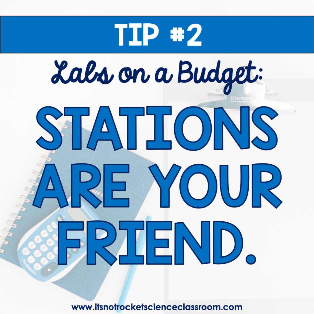 Labs on a Budget Tip #2: Stations are your friend.