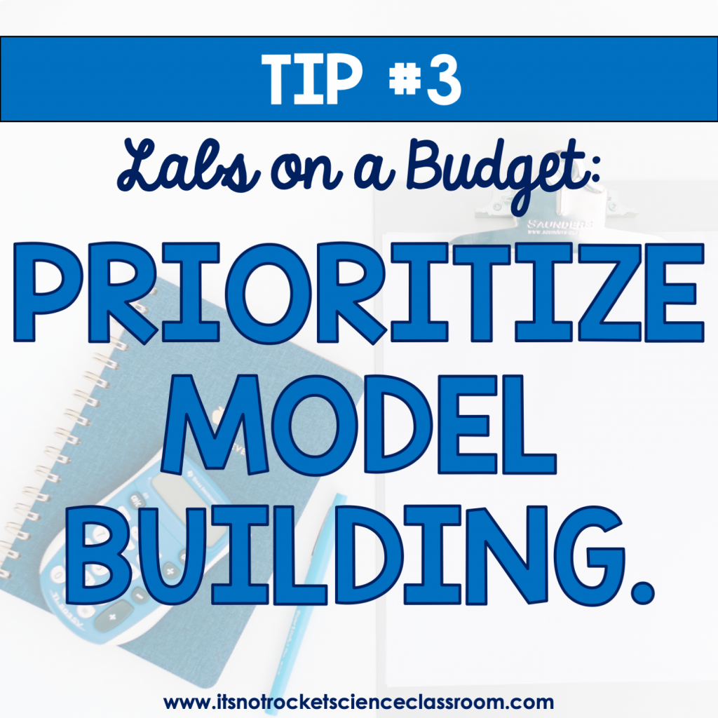 Labs on a Budget Tip #3: Prioritize model building